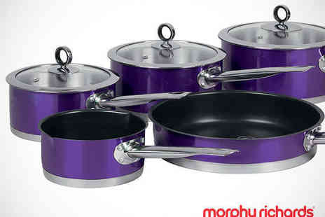 Buy Moby - Five Piece Pan Set in Choice of Colours - Save 41%