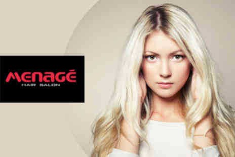 Menage Hair Salon - Wash Cut and Blowdry plus Discount off Colour - Save 65%