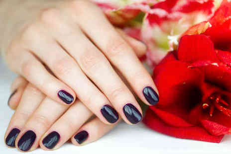 Crystal Nails - Shellac manicure & hand massage - Save 55%