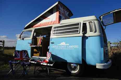Castle Coast Campers - Three day weekend mid week VW campervan hire - Save 57%