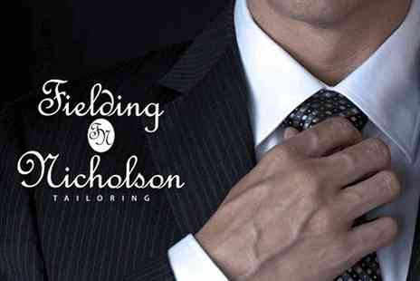 Fielding and Nicholson - Bespoke Savile Row suit for men or women - Save 58%