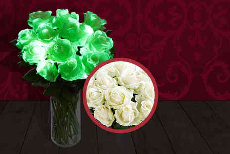 All Occasions Florists - Bunch of 6 glow in the dark roses - Save 43%