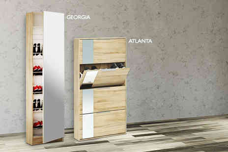 Furniture Deals - Full length mirrored Georgia shoe cabinet or an Altlanta shoe cabinet - Save 50%