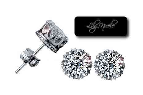 Lily Nicole - Add some sparkle to your outfit with crystal crown earrings - Save 98%