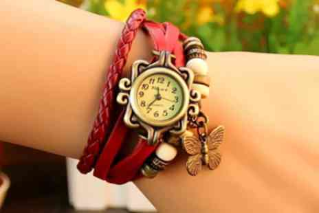 Jewel 2 Sell - Genuine leather vintage charm watch - Save 93%