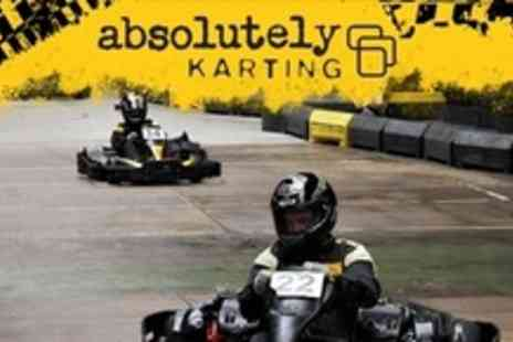 Absolutely Karting - 60 Minute Go Karting Experience - Save 64%