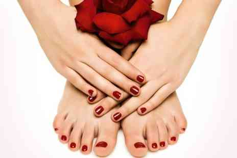 Nielle Beauty - Shellac Manicure and Pedicure - Save 28%