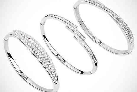 Van Amstel Diamond - One of Three Bracelets with Swarovski Elements - Save 70%