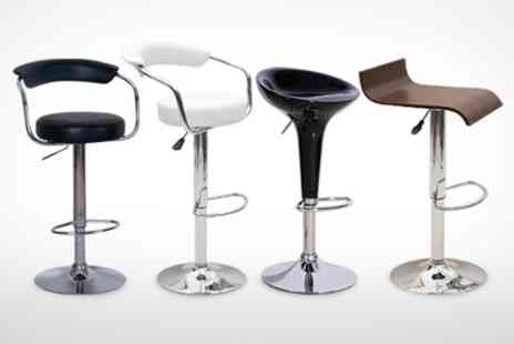 BnMW - Pair of Bar Stools With Gas Lift Action - Save 65%