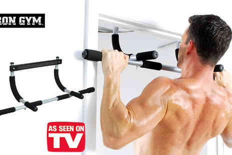 Onevolution - Work out those abs arms & shoulders with this iron gym bar - Save 63%