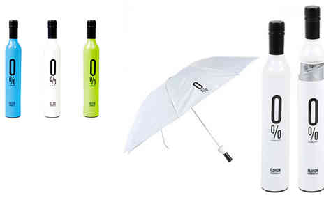 Onevolution - Prepare for the rainy season & keep dry in style with this wine bottle umbrella - Save 65%