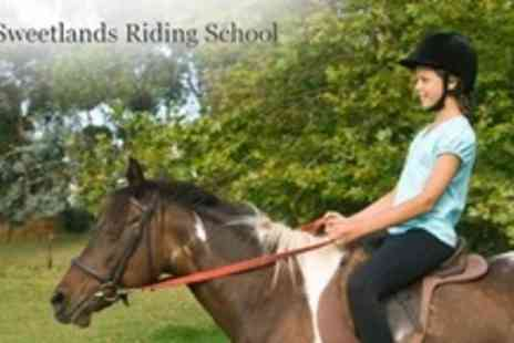 Sweetlands Riding School - One Hour Assessed Hack Plus Follow Up Riding Lesson - Save 60%