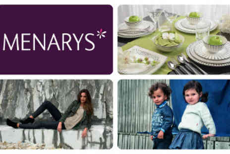 Menarys - Voucher to Spend in any Menarys Store in Northern Ireland - Save 55%