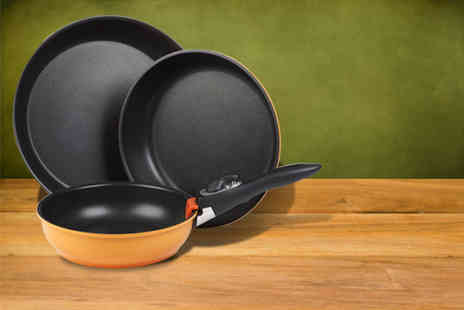Easygift Trading - Three piece Versa saucepan set or frying pan set - Save 70%