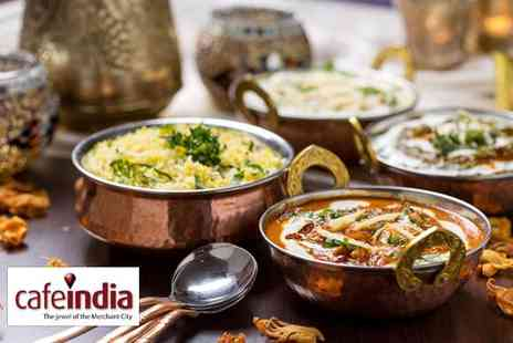 Cafe India - Three course Indian meal for two - Save 50%