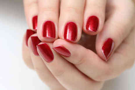 The Sun Room - Gelish Manicure or Half Leg and Hollywood Wax or Microdermabrasion Treatment - Save 51%