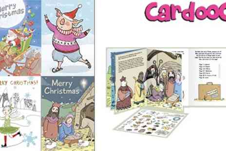 Cardooo - Unique Christmas Activity Card Pack that have Stickers Games and Colouring in - Save 50%