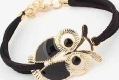 Wonder Gifts - Monochrome owl wrap bracelet - Save 97%