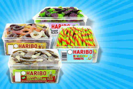 UK Sweets - Giant tub of Haribo sweets in a choice of flavours - Save 50%