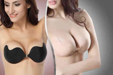 Cissors Palace - Add Me Silicon invisible push up bra in black or nude - Save 82%