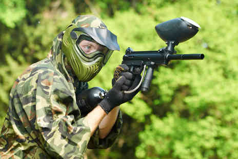 Nationwide Paintball - Day of paintballing for up to 10 people in a choice of over 70 locations - Save 93%