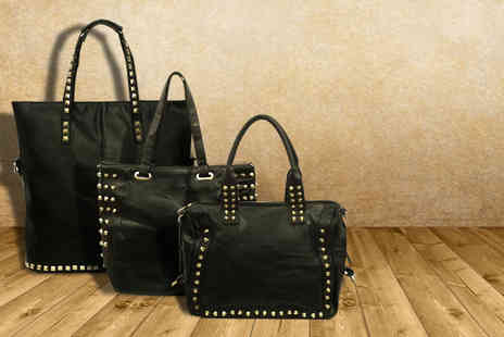 Leila Eve - Studded bag in a choice of 3 styles - Save 70%