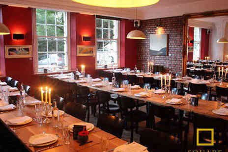 The Square Kitchen - Starter Main and Prosecco Each for Two - Save 53%