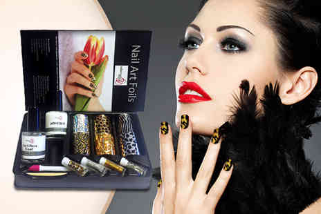 Millennium Nails - Nail art foil kit  get up to 6 different designs - Save 83%