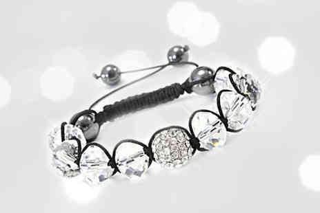 Platinum Bay - Bring the shamballa trend to the next level with this crystal shamballa bracelet - Save 98%