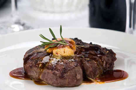 Kudos - 10oz Rib Eye Steak with Large Glass of Wine Each for Two - Save 52%