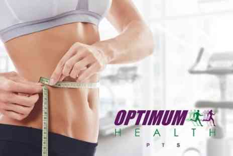 Optimum Health pts - Five Week Weight Loss Program With Personalised Diet Plan and Group Training Sessions for £24 - Save 66%