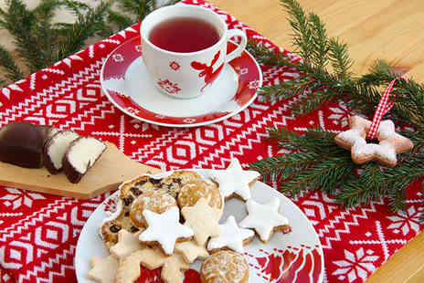 Treasure Chest Tea Shop - Christmas afternoon tea for 2 including sandwiches cakes and tea or coffee - Save 50%