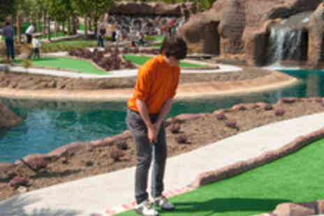 World of Golf - Lost Island Encounter Adventure Golf Session for a Family of Four - Save 50%