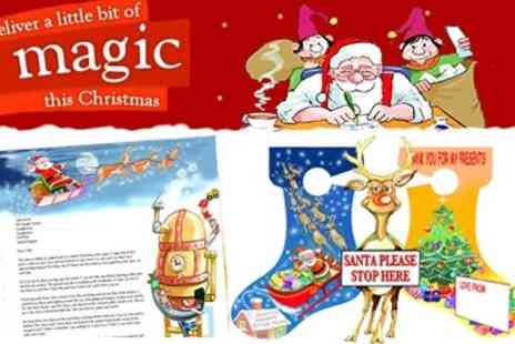 Santa Claus Post - Personalised Santa Letters including Door Hanger and Window Sticker for Santa to Spot - Save 45%