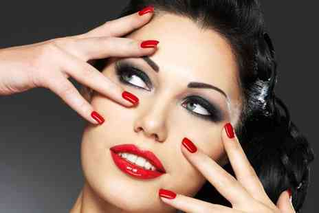 Beauty Within Fabulous Salon - Full set of Party Lashes a manicure and Gel polish plus brow shape and tint - Save 65%