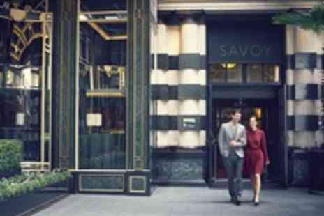 The Savoy - Luxury Five Star Stay at The Savoy with ThreeCourse Meal and Breakfast - Save 38%