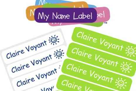 My Name Label - Personalised Sticker and Iron On Label Pack - Save 36%