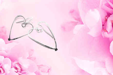 La Jewellery - Set of handmade silver heart earrings - Save 50%