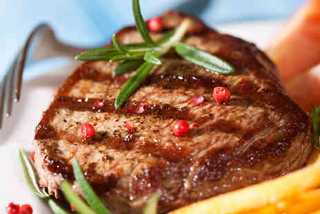 La Pietra Spitalfields - Hot Stone Steak Meal for Two with Wine and Two Sides - Save 64%