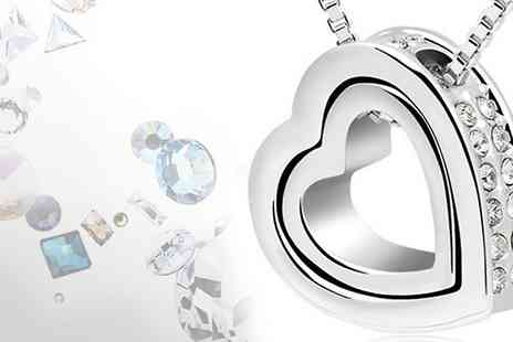 AMA Gifts - This gorgeous crystal heart pendant  show her your love - Save 82%