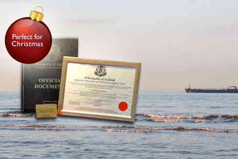 The Principality of Sealand - Become a Baron or Baroness in the principality of Sealand - Save 56%