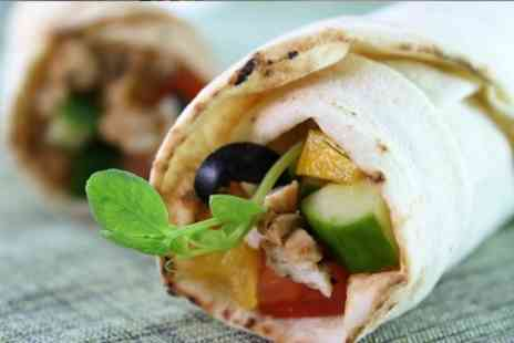 Nata cafe - Wraps and Soft Drinks For Two - Save 28%
