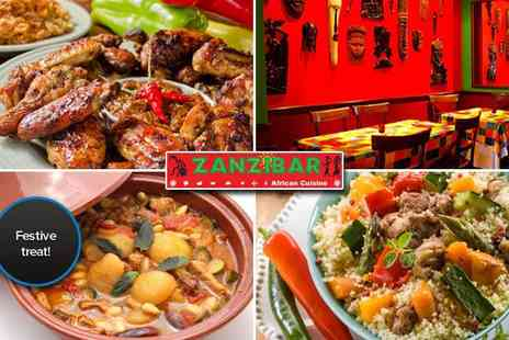 Zanzibar Sheffield - A Christmas meal with a difference  - Save 50%