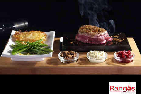 Rangos - Starter 8oz Sirloin Steak, Side Dish and Glass of Wine Each for Two - Save 63%