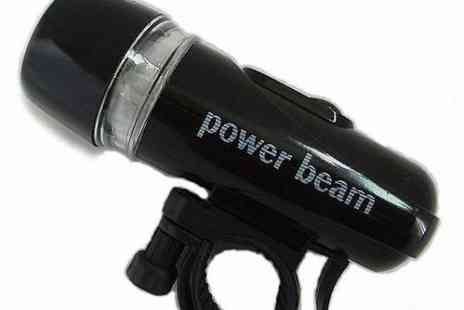DealWizz - Power Beam Bicycle Headlight with Five LED Lamps - Save 54%
