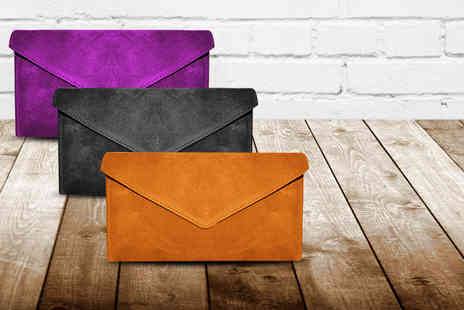 Sugar plus Style -  Alexa suede clutch bag  pick from 8 colours - Save 57%