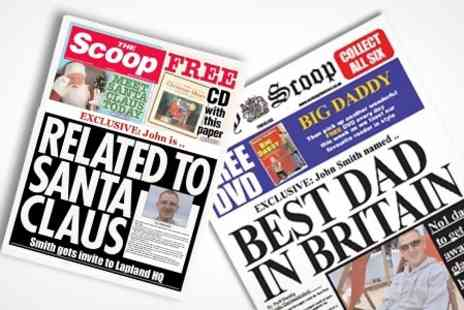 Scooped - Spoof Newspaper Personalised Front Page - Save 55%