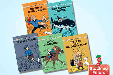Kids IQBooks - Five Book Tintin Young Readers Collection 1 - Save 54%