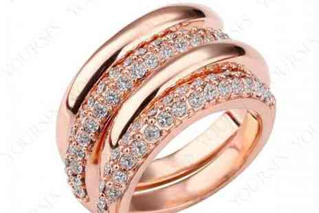DealWizz - 18K Rose Gold plated, inlaid with prestigious Swaroswki Crystals - Save 50%