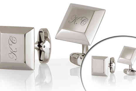 Kraftcufflinks - Add a nice finishing touch to any suit with this stylish personalised cuff links - Save 53%